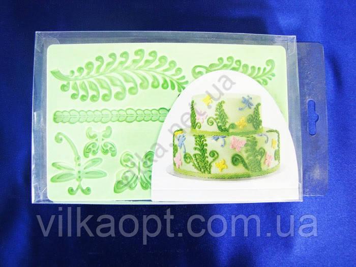 Молд кондитерский силиконовый  Веточки 12,5 х 19,5 cm