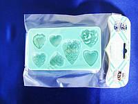 Молд кондитерский силиконовый Сердечки 12,5 х 7 см.