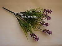 Искусственный куст зелени с фиолетовым мелкоцветом - соцветия