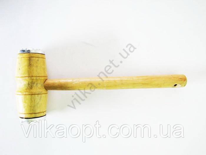 Молоток деревянный лаковый с алюминиевой вставкой