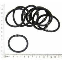 Резинка для волос чёрная, диаметр 6 см, упаковка 25 шт.