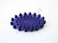 Мыльница силиконовая фиолетовая 15528 - 10,5  х 7 см.