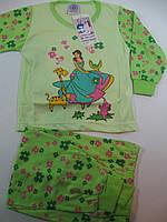 Пижама для девочек трикотажная, размеры  86/92-134/140 арт. 009