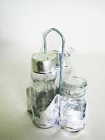 Набор для специй пластмассовый (салфетница, 2 специи, зубочистки ) h 13 cm