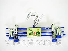Плечики металл + силикон для брюк в наборе из 3-х, L 31cm