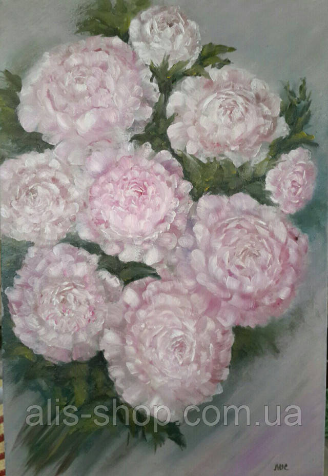 Картина на холсте маслом 40х60 Букет цветов