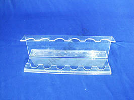 Подставка для ложек, вилок пластмассовая витринная w 18cm., h 14cm