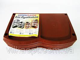 Полка обувная  INCI  коричневая 141 - 40 х 30 х 105 cm