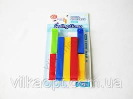 Защипы для пакетов пластмассовые из 7-ми (3 х 9,5/4 х 6)