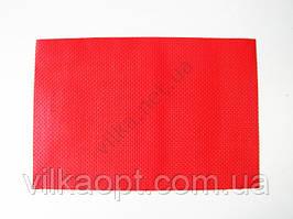 Салфетка под тарелки красная 45 х 30 см.