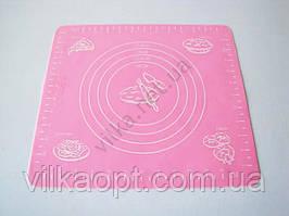 Салфетка силиконовая кондитерская с разметками 26 х 29 см.