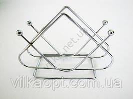 Салфетница нержавейка треугольная 1-ый сорт w 13 cm h 9 cm
