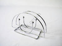 Салфетница-проволока нержавейка  овальная w 13,5 cm h 8 cm