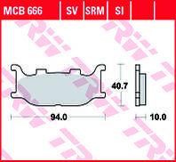 Тормозные колодки TRW / LUCAS MCB666
