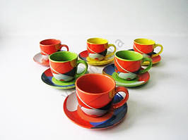 Сервиз чайный на 6-ть  Абстракция