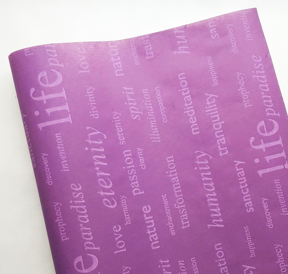 Папір флористична Life бузковий на фіолетовому