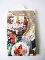 Скатерть ажурная HSH- 005 бежевая 152 х 228