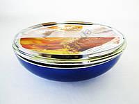 Сковорода AMY 28 см.  синяя с тефлоном