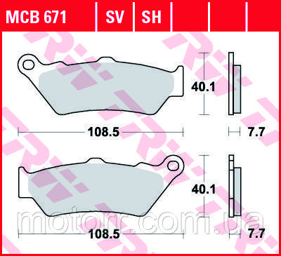 Тормозные колодки TRW / LUCAS MCB671