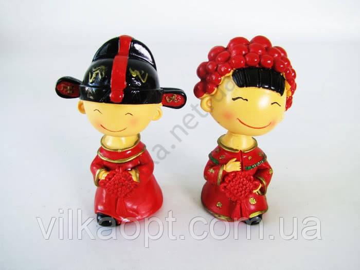 Статуэтка  Китайская парочка - 13 см. (цена за одну шт., 2 шт. в уп.)