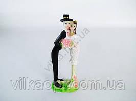 Статуэтка керамическая свадебная 17 см.