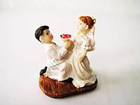 Статуэтка керамическая свадебная 7,5 см.