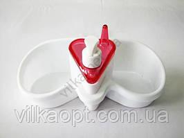 Стойка для мочалок с дозатором для мыла UR 3047 - 25 х 12,5 см.