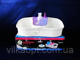 Стойка для ванных принадлежностей с дозатором №218  Zambak 26 х 11 см.
