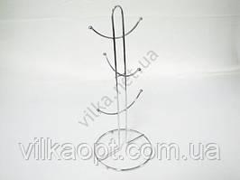 Стойка нержавеющая для 6-ти чашек Скоба 38 см. 09056