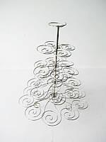 Стойка для капкейков металлическая Спираль 40 см.