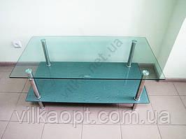 Стол журнальный стекло капля+серебро 104 х 54 cm; h 44 cm