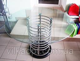 Стол стекло 100 х 100 капля матовая