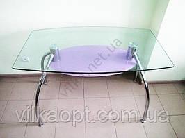 Стол стекло полка черная 120 х 70 cm; h 76 cm