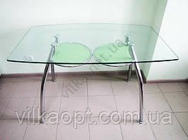 Стол стекло 125 х 75 cm; h 75 cm