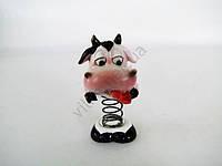 """Статуэтка """"Бычок"""" сувенир новогодний символ года на пружине h 7 cm (4 штуки в упаковке)"""