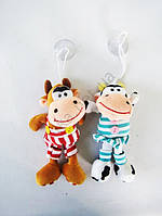 Сувенир игрушка мягкая Бык на присоске 09994 - 14,5 см.