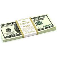 Сувенирные деньги 100 долларов, старого образца. Пачка долларов 80 шт.