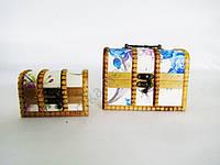 Сундучок в наборе из 2-х  15 х 10 х 11 см. ; 11 х 7 х 7 см.