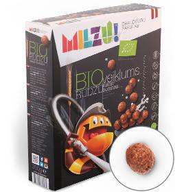 Хлопья ржаные шоколадные шарики Milzu, 200г, фото 2