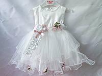 Платья детские нарядные на 9-24 месяцев с юбкой из фатина и повязкой на голову