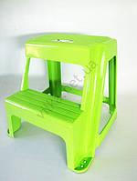 Табурет пластмассовый со ступенькой ТВ-165, 40cm x 24,5cm., h 45,5cm