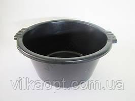 Таз 19 л. хозяйственный чёрный d 43cm., h 21cm