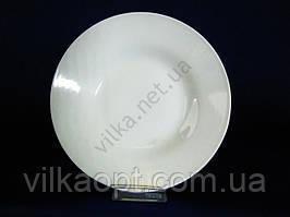 Тарелка  Белая гладь  глубокая №9 23,2 х 4 см. (12 шт. в уп.)