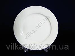 """Тарілка обідня керамічна """"Біла гладь"""" для других страв, біла d 20 cm. (12 штук в упаковці)"""