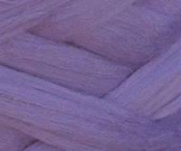 Толстая, крупная пряжа 100% шерсть мериноса. Цвет: Фиалка. 21-23 мкрн. Топс.
