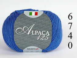 Пряжа Seam Италия Альпака 125 код 6740