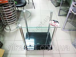 Тумбочка под телефон 50 х 45 черное стекло