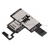 Шлейф с держателем (разъемом) SIM карты и карты памяти HTC Desire V T328w Original