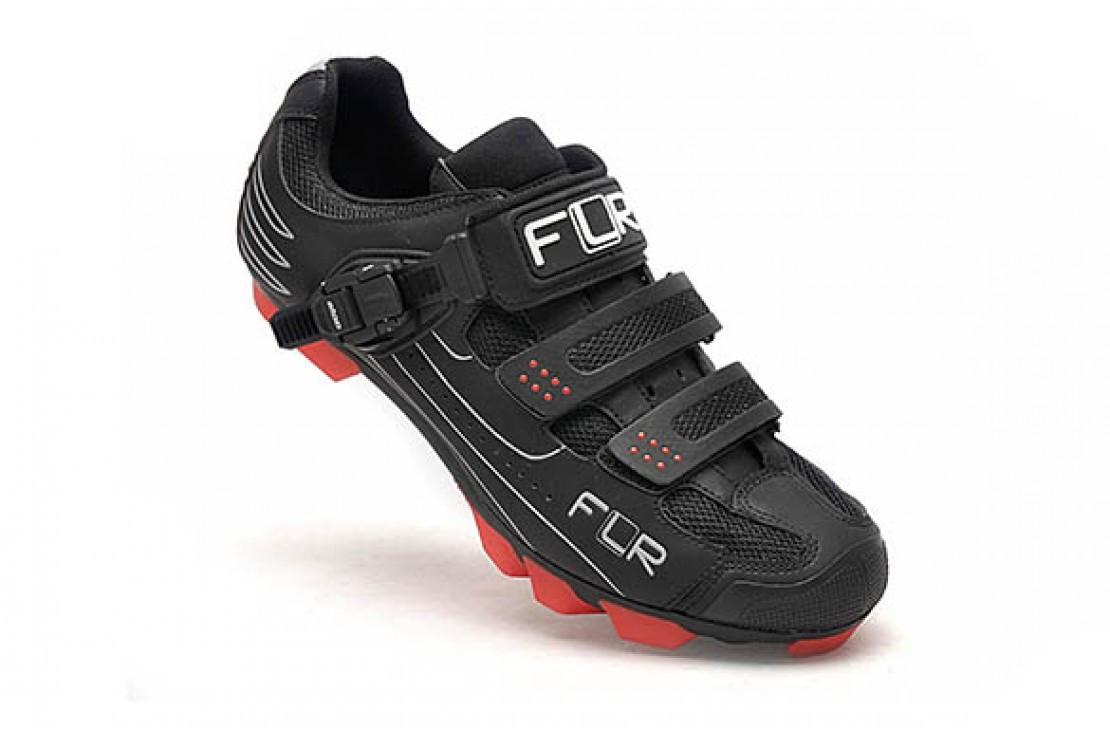 MTB велотуфли FLR F-65 черно-красные, размер 43 (стелька 278 мм)