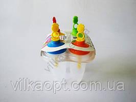 Форма пластмассовая для мороженного из 4-х прозрачная 10 см.
